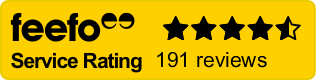 Our customer Feefo rating
